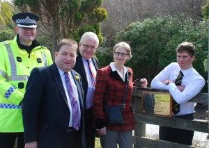 Plockton plaque unveiling