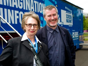Jean with Nick Higgins, Director of We Are Northern Lights (photo by Hannah Houston)