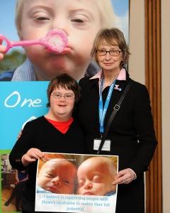 Jean Urquhart with Down's Syndrome Scotland spokesperson Kim Scott