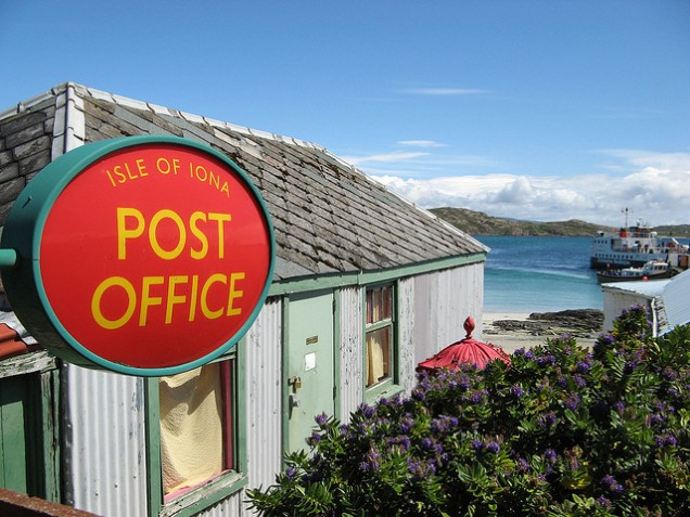 The Post Office on Iona, one of the islands still left out after the rule change. Photo: www.flickr.com/freddieh/.