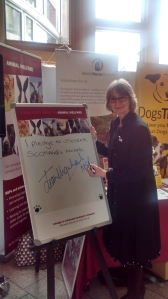 Signing the CPG's Pledge to protect Scotland's animals