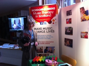 Jean at the Nordoff Robbins stall in Parliament