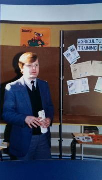 Charles Kennedy at Ullapool Primary School, 1983