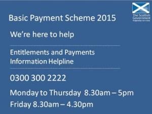 Basic Payment Scheme helpline - 0300 300 2222